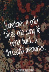 Music Memories quote